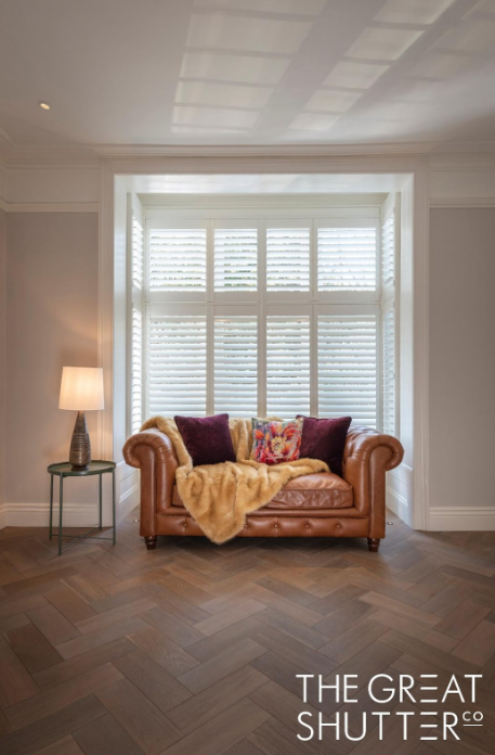 Contemporary Twist on Traditional Home window covering solutions on a large victorian property