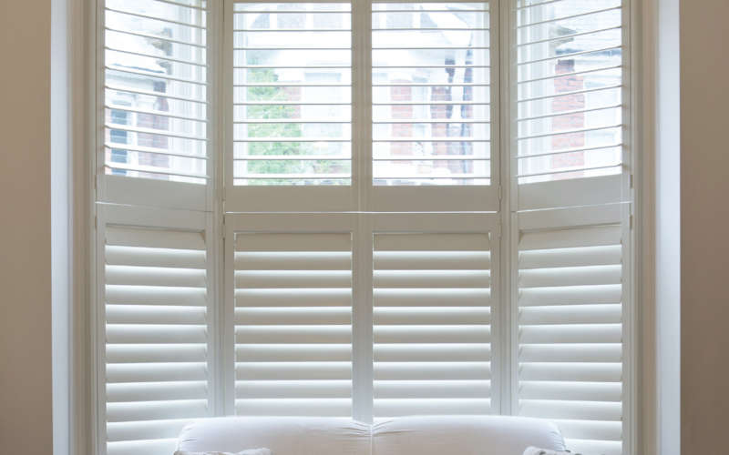 Bay window shutters winchester basingstoke hampshire - Types shutters consider windows ...