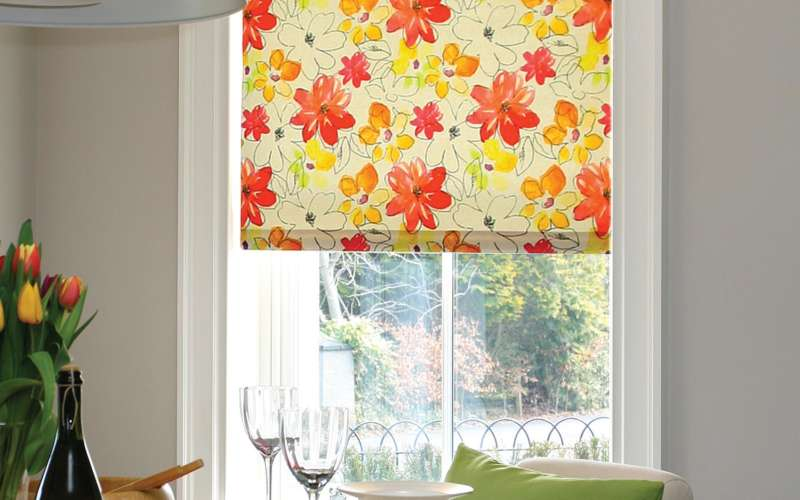 510-Posies-Citrus-Single-roman-blind-Romsey-Hampshire