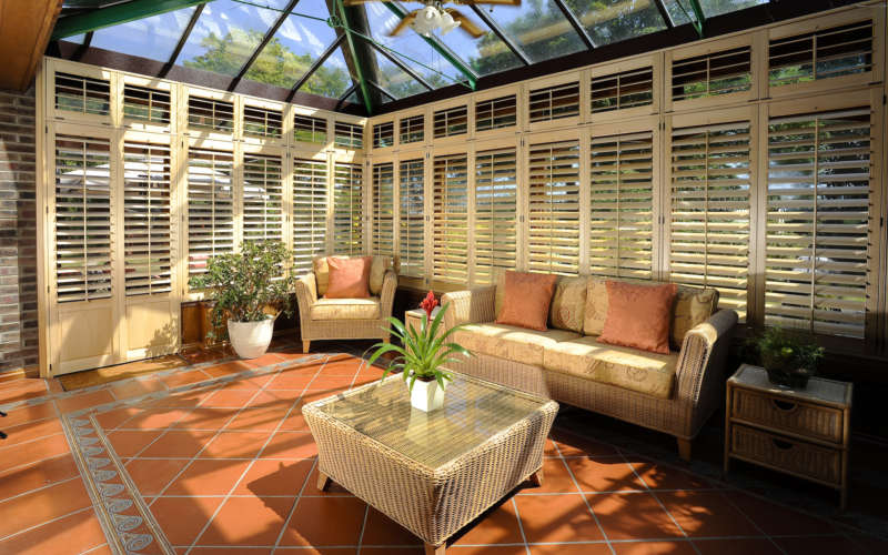 wood-conservatory-shutter-open-basingstoke-hampshire-The-Great-Shutter-Co