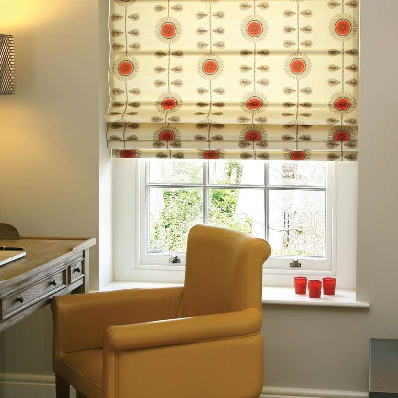 514-Scribble-Flower-Red-Roman-Blind-Petersfield-Hampshire