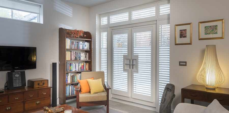 The Great Shutter Co  Ltd  French Door Patio Shutters 2