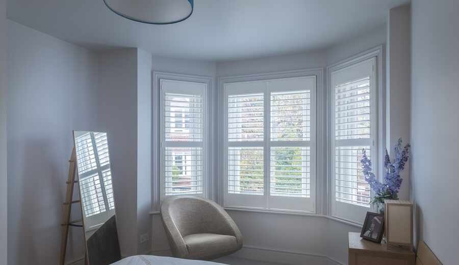 Wood Bay Window Shutters Romsey